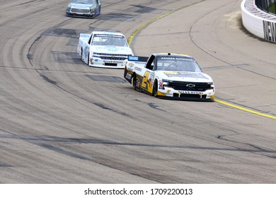 Newton, Iowa - June 15, 2019: Sheldon Creed , NASCAR Gander Outdoors Truck Series M&M 300 race 2019
