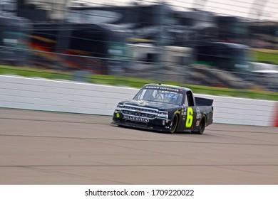 Newton, Iowa - June 15, 2019: Tyler Hill, NASCAR Gander Outdoors Truck Series M&M 300 race 2019