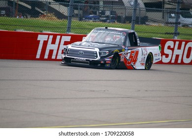 Newton, Iowa - June 15, 2019: Natalie Decker, NASCAR Gander Outdoors Truck Series M&M 300 race 2019