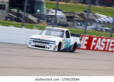 Newton, Iowa - June 15, 2019: Mason Massey, NASCAR Gander Outdoors Truck Series M&M 300 race 2019
