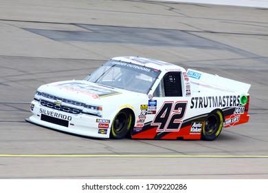 Newton, Iowa - June 15, 2019: chad finley, NASCAR Gander Outdoors Truck Series M&M 300 race 2019