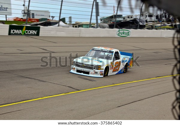 Newton Iowa, USA - July 11, 2014: NASCAR Camping World Truck Series, American Ethanol 200. Iowa Speedway. 21 Joey Coulter, Chevrolet, Gallagher Motorsports