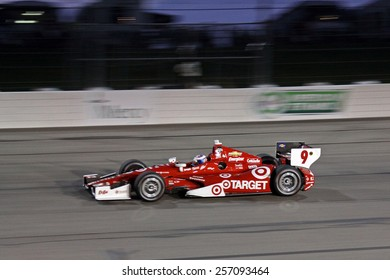 Newton Iowa, USA - July 12, 2014: Verizon Indycar Series Iowa Corn 300 on track racing action. 9 Scott Dixon Target Chip Ganassi Racing Chevrolet