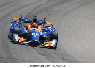 Newton, Iowa USA - July 17, 2015: Verizon IndyCar Series Iowa Corn Indy 300.