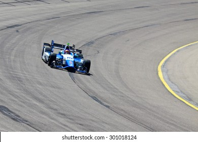 Newton, Iowa USA - July 17, 2015: Verizon IndyCar Series Iowa Corn Indy 300. 18 Pippa Mann Ipswich, England Dale Coyne Racing Honda. Race practice session.