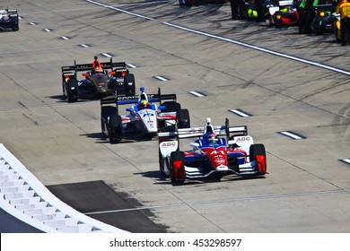 Newton, Iowa USA - July 9, 2016: Verizon IndyCar Series Iowa Corn Indy 300. Race drivers and teams practice before the race. Jack Hawksworth #41, A.J. Foyt Enterprises 	ABC, Supply