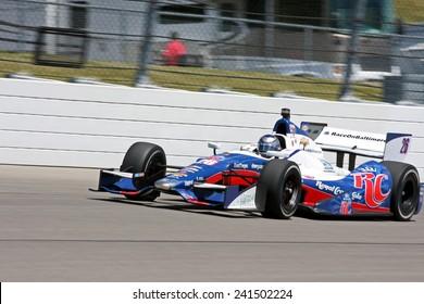 Newton Iowa, USA - June 22, 2012: Indycar Iowa Corn 250. Racing action at Iowa Speedway. 26 Marco Andretti Nazareth, Pa. Team RC Cola