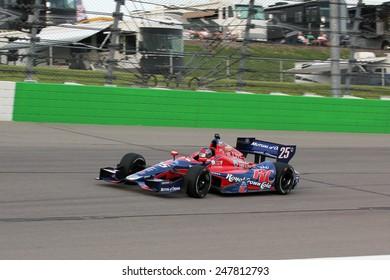 Newton Iowa, USA - June 22, 2013: Indycar Iowa Corn 250, Iowa Speedway, Practice and Qualifying sessions. Marco Andretti Nazareth, Pa. RC Cola