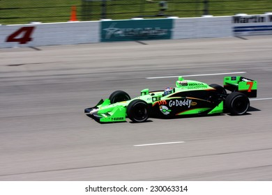 Newton Iowa, USA - June 24, 2011: Indycar Iowa Corn 250, Danica Patrick-USA, Andretti GoDaddy, Indy racing action motorsport event.