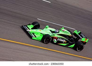 Newton Iowa, USA - June 24, 2011: Indycar Iowa Corn 250, Danica Patrick-USA, Andretti GoDaddy, Indy racing action motorsport event. Danica was sponsored by Go Daddy.