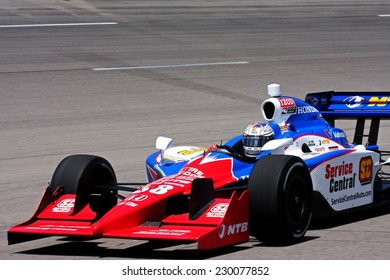 Newton Iowa, USA - June 24, 2011: Indycar Iowa Corn 250, Graham Rahal-USA, Service Central Ganassi, Indy racing action motorsport event.