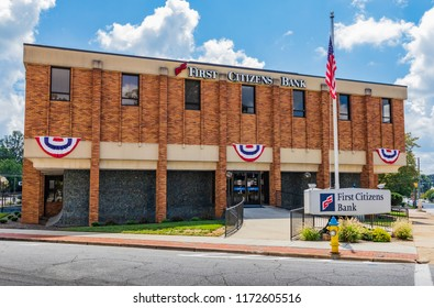 NEWTON, NC, USA-9/2/18: A Newton Branch of the First Citizens Bank, based in Raleigh, NC, and operating in 18 staes and Washington, DC.