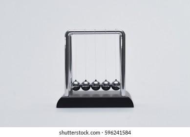 Newtons Cradle Kinetic energy Manifested in Metal Balls