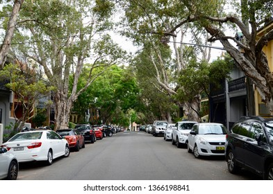 Newtown, New South Wales, Australia. April 2019. A street scene in the inner Sydney suburb of Newtown.