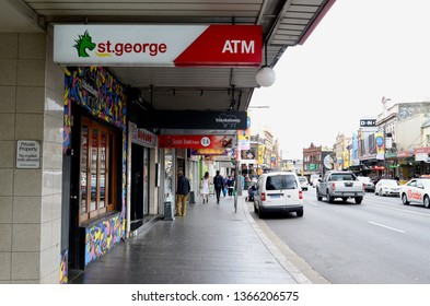 Newtown, New South Wales, Australia. April 2019. A view of the busy King Street in the inner Sydney suburb of Newtown.