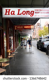 Newtown, New South Wales, Australia. April 2019. A view of King Street in Newtown, an inner Sydney suburb.