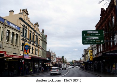 Newtown, New South Wales, Australia. April 2019. A view of King Street in the inner Sydney suburb of Newtown.