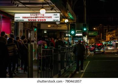 Newtown, NSW / Australia - September 17th, 2016: Newtown, Sydney Street by Night