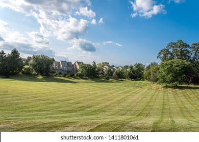 Newtown, Pennsylvania, Usa -  8/30/2017: Newtown Grant is a nice development close to the town.