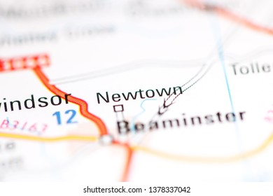 Newtown. United Kingdom on a geography map