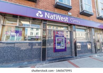 Newtown -  Wales / UK - July 23rd 2019 - Natwest Cymru bank in Newtown, Powys