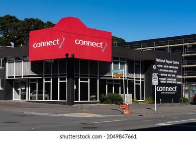 Newtown, Wellington, New Zealand - September 1st 2021: Connect technology repair centre