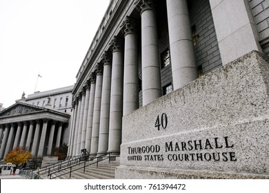 New-York - NOV 13: Thurgood Marshall courthouse, where the Court of Appeals for the 2 Circuit and the  District Court for the Southern District of New York hear cases in New-York, USA November 13 2012