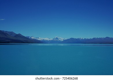 newzealand blue water mount cook