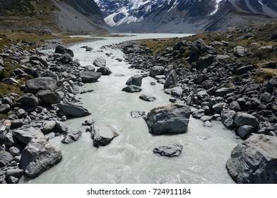 newzealand mount cook glacier