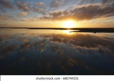 newzealand sunset light