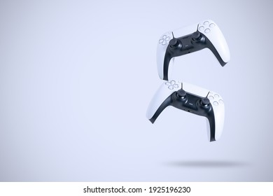 Next Generation game controllers isolated