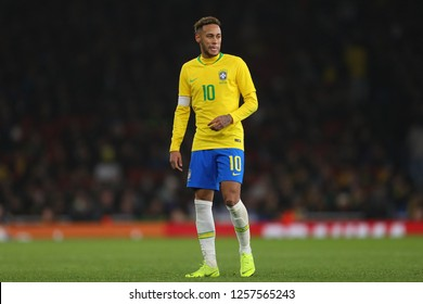 Neymar of Brazil - Brazil v Uruguay, International Friendly, Emirates Stadium, London (Holloway) - 16th November 2018
