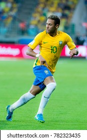 Neymar during match between Brazil and Chile for the 2018 FIFA World Cup Russia Qualifier at Allianz Parque Stadium on October 10, 2017 in Sao Paulo, Brazil.