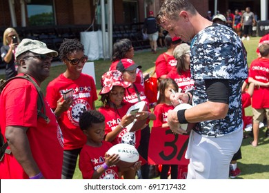 NFL Atlanta Falcon Training Camp on Sunday August 6th, 2017 at the Flowery Branch Training Facility in Flowery Branch, Georgia -USA