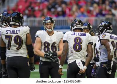 - NFL - December 2nd 2018 Atlanta Falcons Vs. Baltimore Ravens at the Mercedes Benz Stadium in Atlanta Georgia USA
