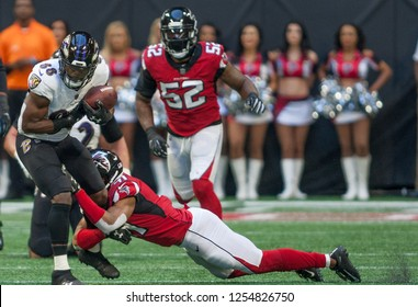 - NFL - December 2nd 2018 Atlanta Falcons Vs. Baltimore Ravens at the Mercedes Benz Stadium in Atlanta Georgia USA