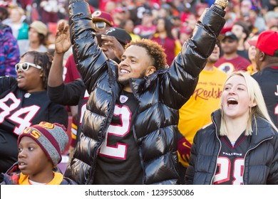 NFL  Fans-  Washington Redskins host Atlanta Falcons at Fedex Field Stadium in Largo Maryland, on November 4th, 2018 USA
