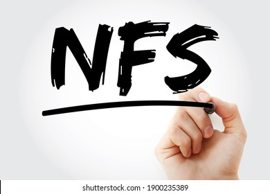 NFS - Network File System acronym with marker, technology concept background