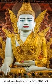 Nga Htat Gyi is the biggest buddha one of famous in Yangon, Myanmar