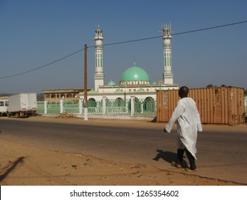 Ngaoundere / Cameroon - November 2009: The Alhadji Garou Mosque in Ngaoundere, Cameroon.