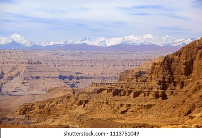 Ngari(Ali) scenery in Tibet- Zanda Earth forest. Taken on the way from Zanda(Toding town) to Shiquanhe, Ali(Ngari), Tibet.