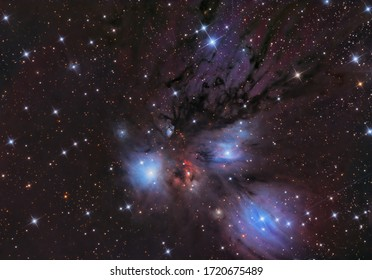 NGC 2170 is a dusty reflection nebula and stellar nursery that formed about 6 to 10 million years ago, located at the edge of the elliptically shaped, giant star-forming molecular cloud Monoceros, som
