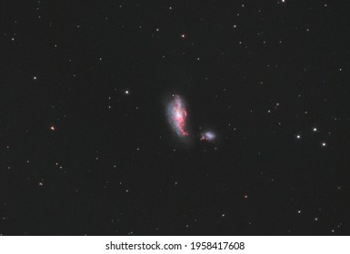 NGC 4490 or also Cocoon galaxy, located in Canes Venatici constellation, taken with my telescope.