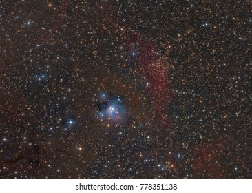 NGC 7129 a faint reflection nebula 3,300 light years away in the constellation Cepheus
