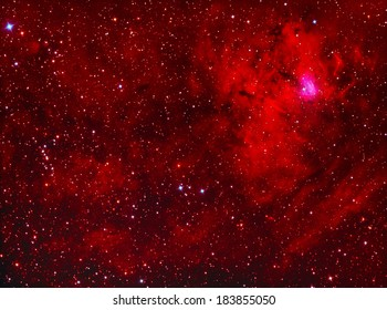 NGC1491 emission nebula in perseus