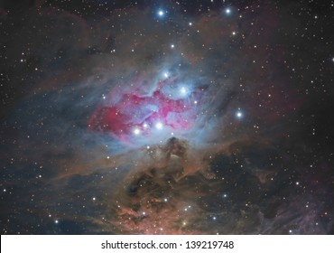 NGC1977; Reflection Nebula in the constellation Orion. Also known as the Running Man Nebula