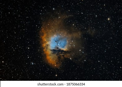 NGC281 nebula also know as Pac-man in HST palette taken with dedicated astrophotography camera on the telescope