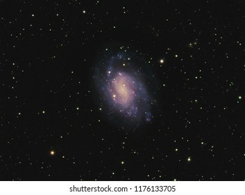 NGC300 is a spiral galaxy in the constellation Sculptor. It is one of the closest galaxies to the Local Group, and probably lies between the latter and the Sculptor Group.