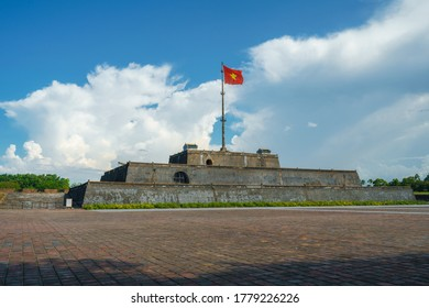 Ngo Mon square with the flag tower Ky Dai in the Citadel - the Imperial Place in Hue city, Vietnam - Shutterstock ID 1779226226