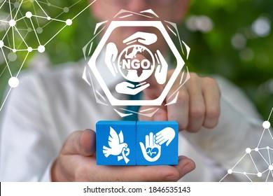 NGO Non-Governmental Organization Concept. Nonprofit Company Foundation Charity.